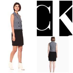🌺Calvin Klein Sleeveless Blazer dress